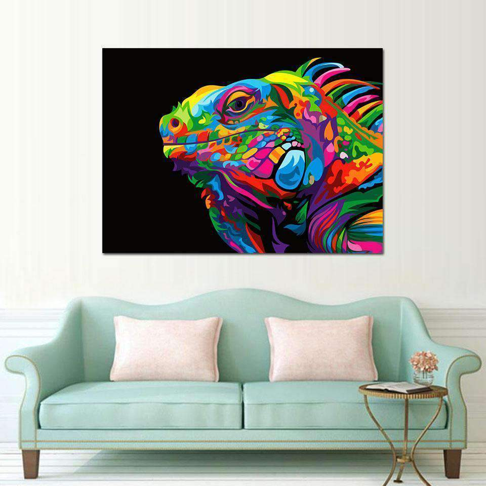 Pop Art Painting The Samaritan Chameleon Pop Art Painting