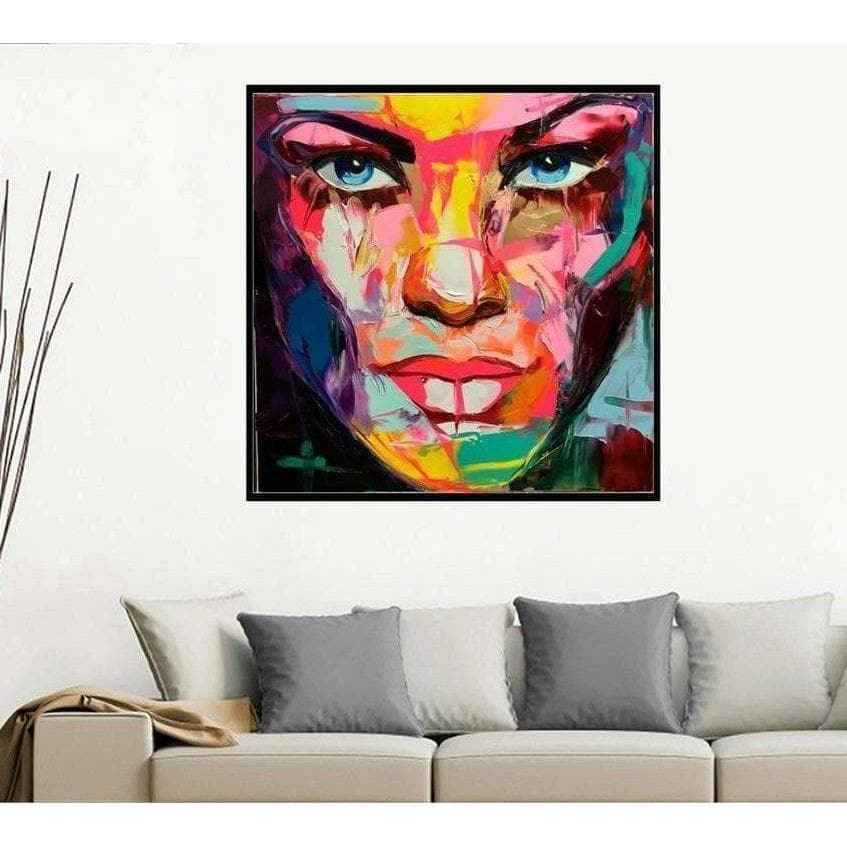 Pop Art Painting The Samaritan Face Pop Art Painting