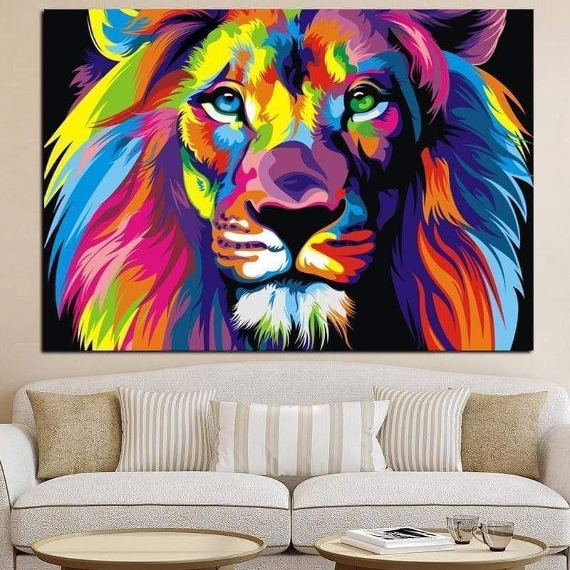 Tableau Pop Art Lion samaritain Tableau Pop Art