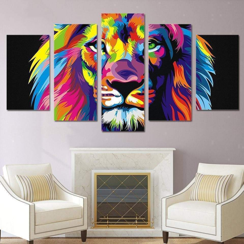 Pop Art Painting Samaritan Lion Pop Art Painting