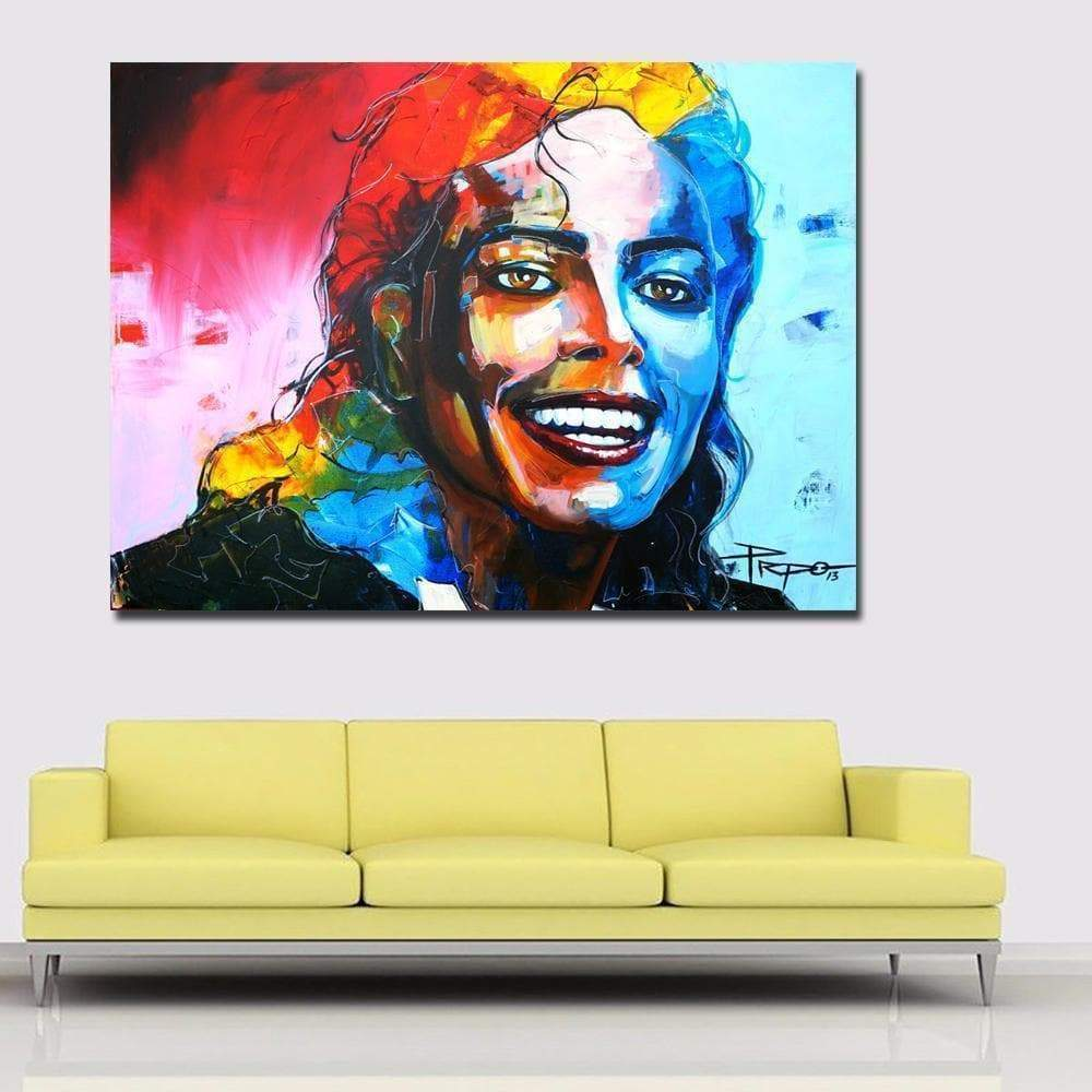 Michael Jackson Pop Art Painting Samaritan Portrait Pop Art Painting