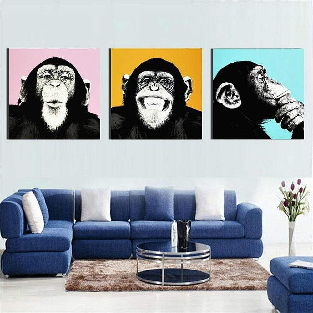 Tableau Pop Art Singe Fashion samaritain Tableau Pop Art