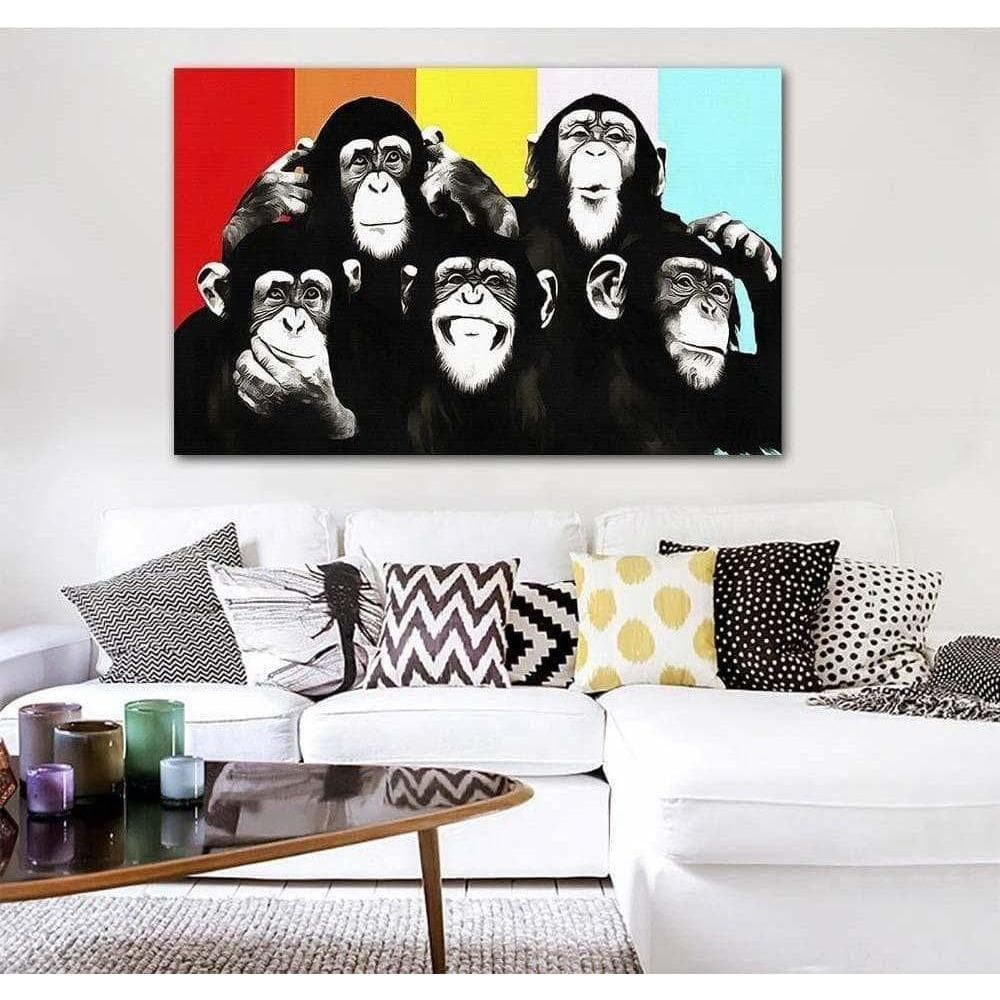 Tableau Pop Art Singe This is Monkey samaritain Tableau Pop Art