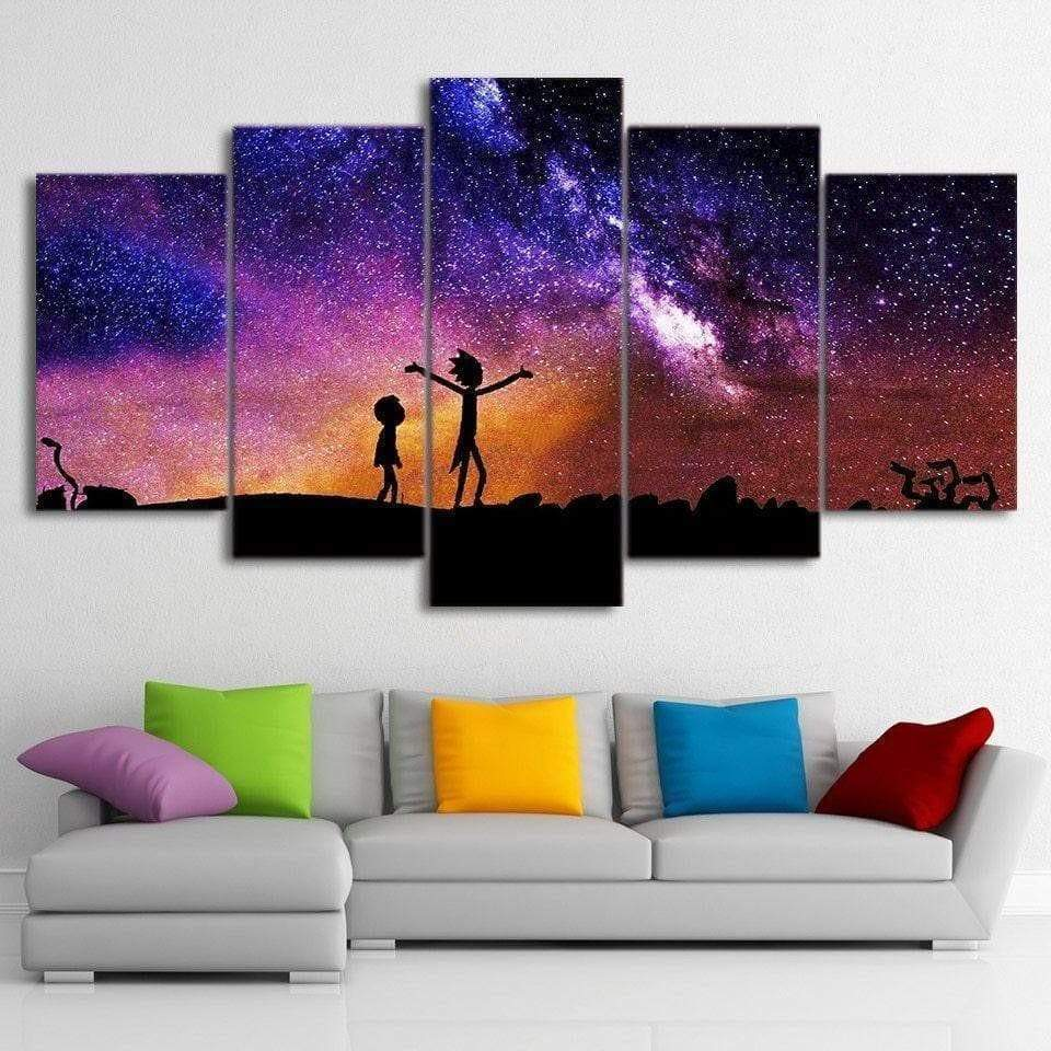 Rick and Morty painting Under the Samaritan stars Rick and morty painting