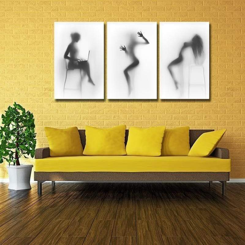 Sexy Black and White 3 Pieces Samaritan Painting