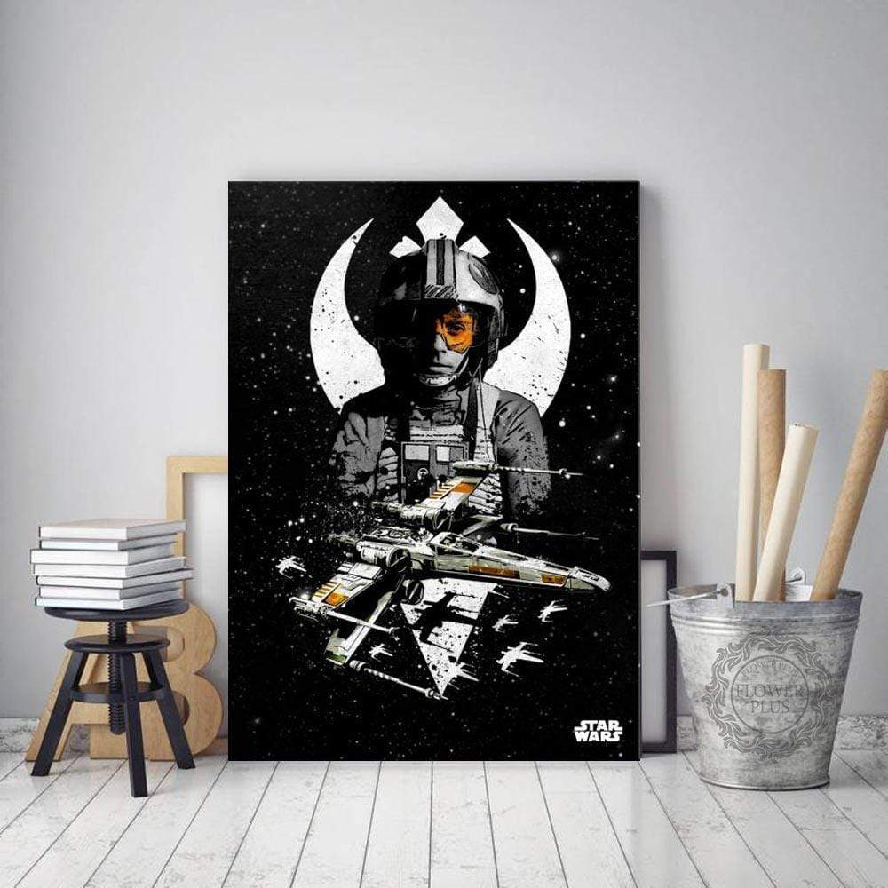 Star Wars lærred sort og hvid Luke Skywalker Samaritan Collection Star Wars lærred