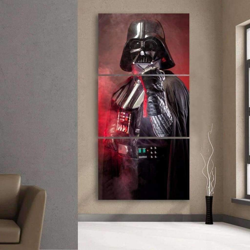 Tableau Star Wars Dark Vador Triptyque samaritain tableau star wars