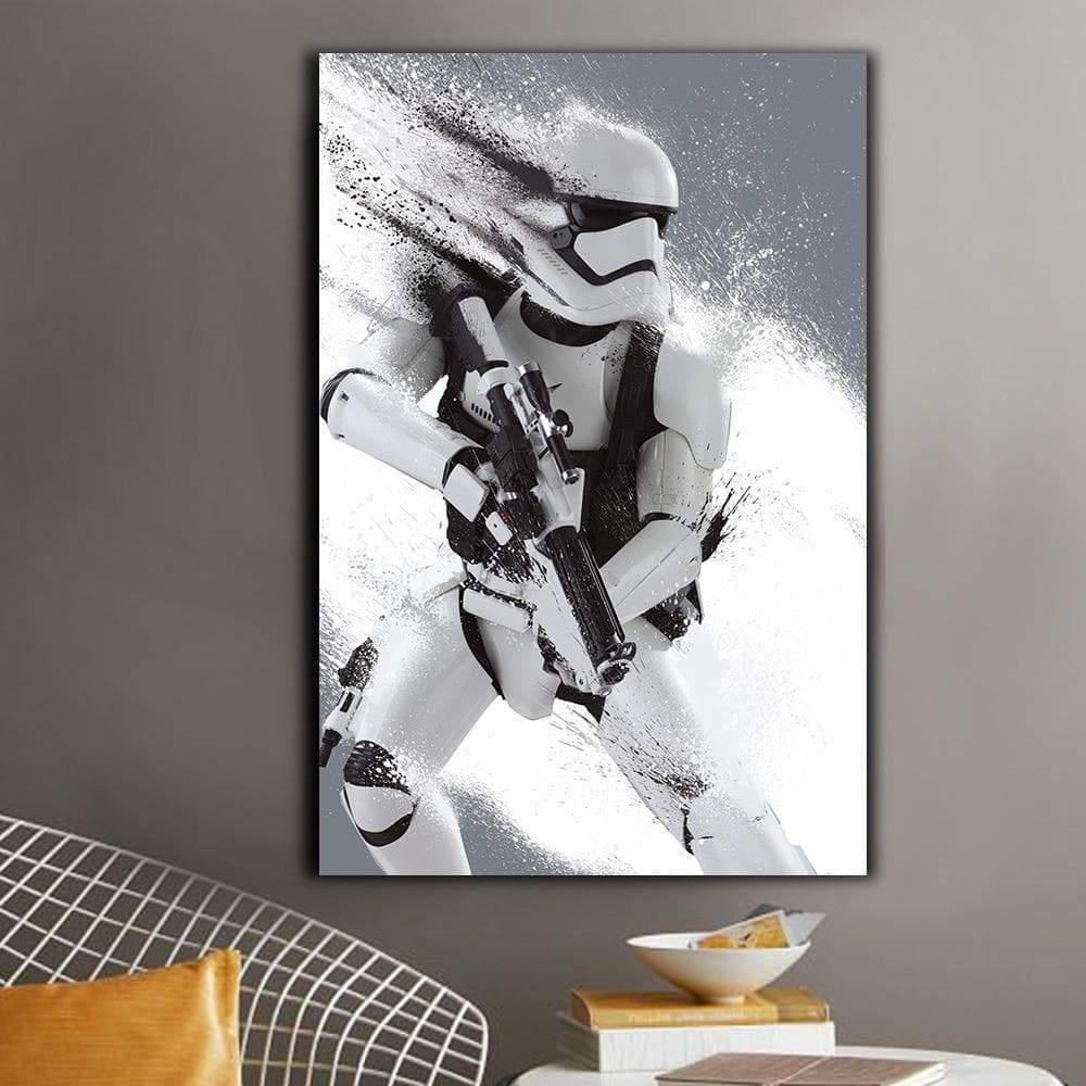 Lienzo moderno de Star Wars The Samaritan Stormtrooper Lienzo de Star Wars