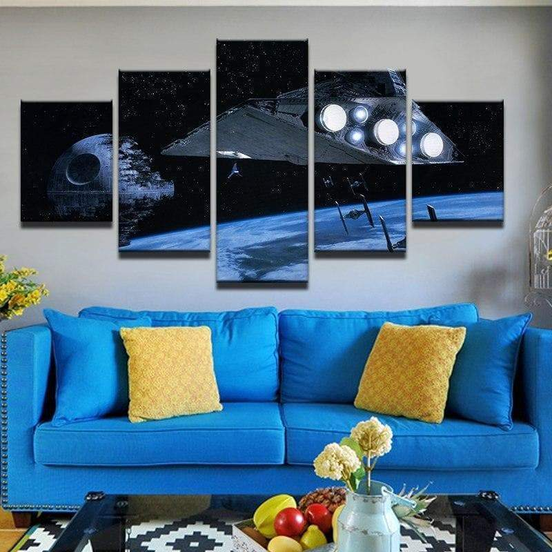 Star Wars MotherShip Samaritan painting star wars painting