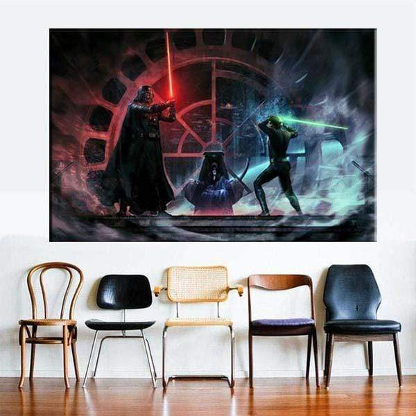 Star Wars Painting Samaritan Father and Son Star Wars Painting