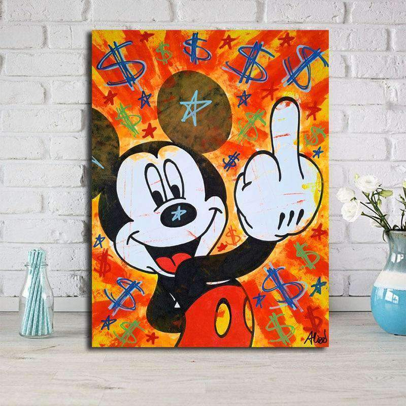 Tableau Street Art Mickey Mouse samaritain Tableau Street Art