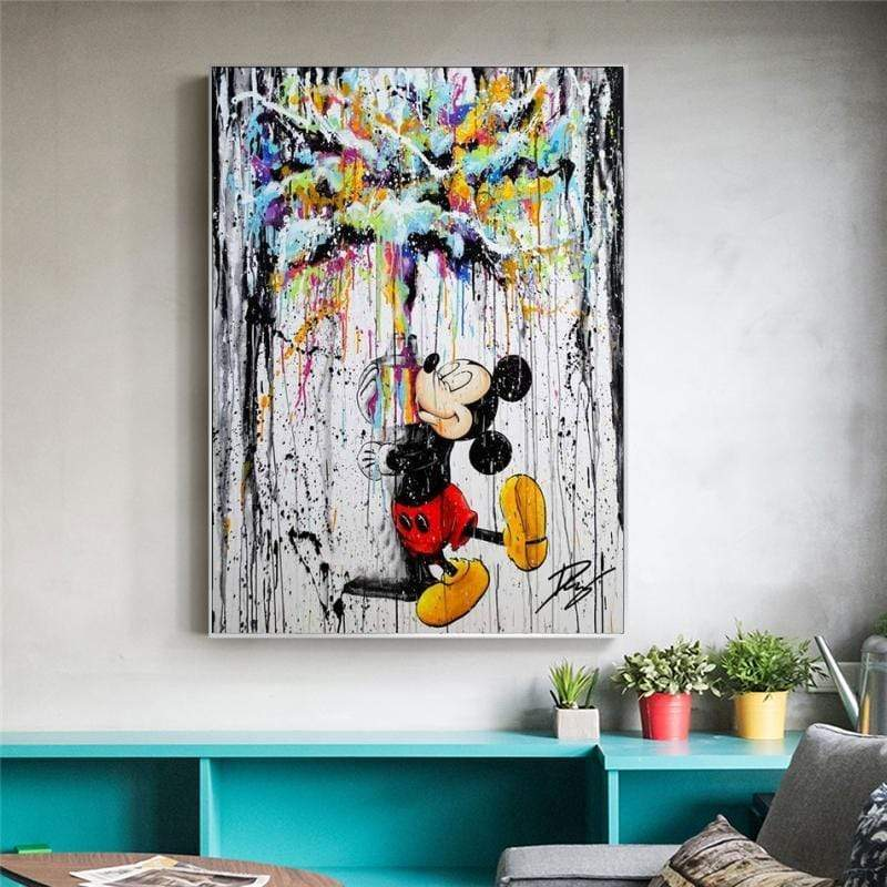 Tableau Street Art Mickey on the Wall samaritain Tableau Street Art