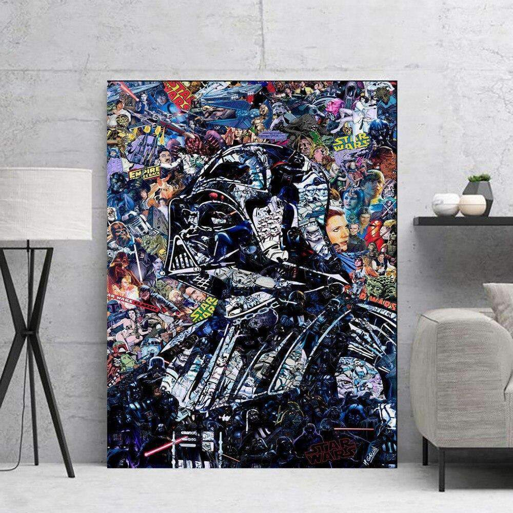 Tableau Street Art Star Wars Dark Vador samaritain Tableau Street Art
