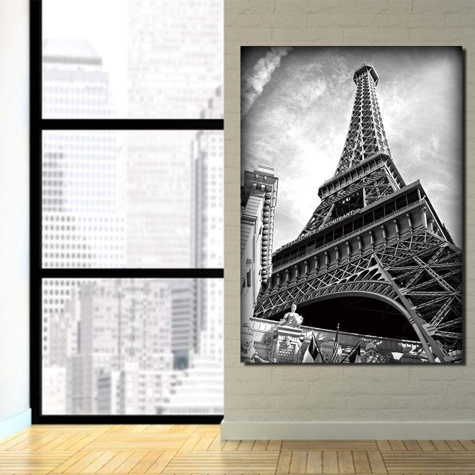 Black and White Eiffel Tower painting samaritan city painting