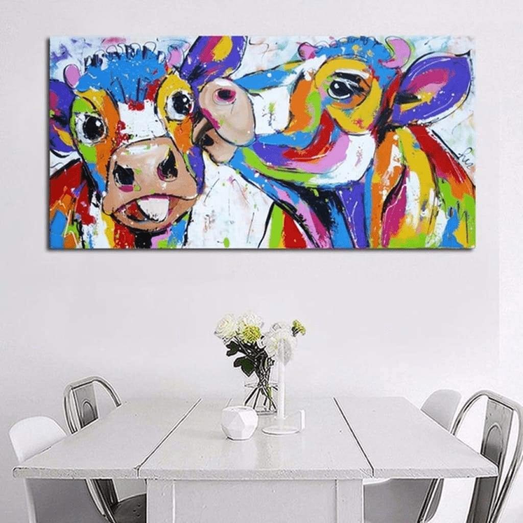Colorful Cow Painting Love Samaritan Cow Painting Cow