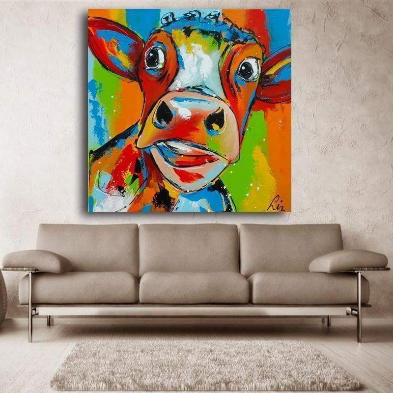 Mireille is Beautiful Samaritan Colorful Cow Painting