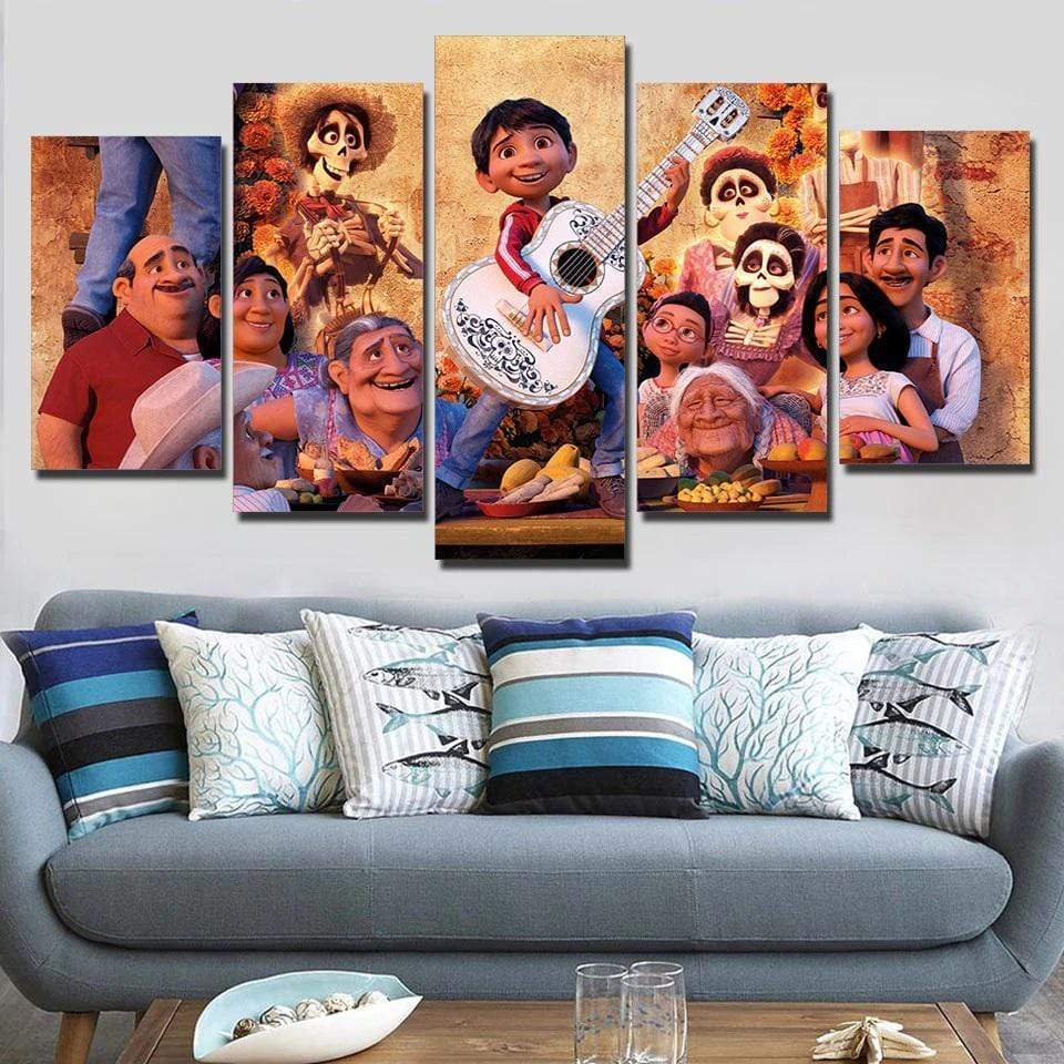 Walt Disney Coco Familly Samaritan Painting Walt Disney Painting