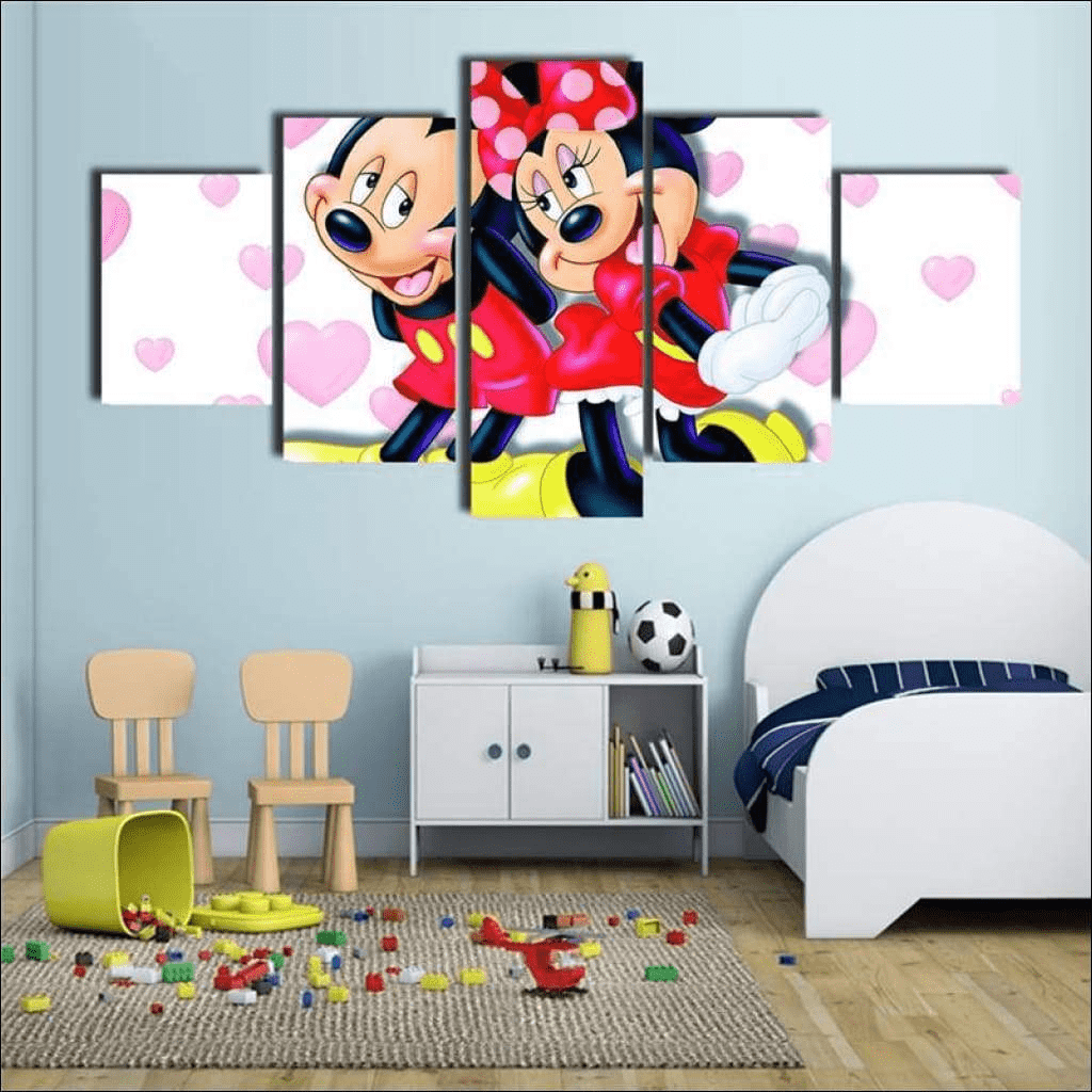 Walt Disney Mickey y Minnie Pintura