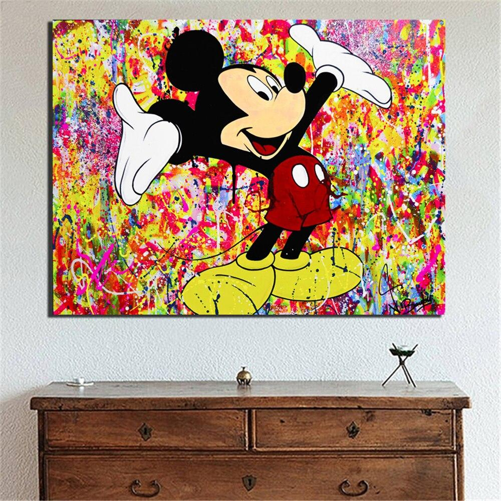 Tableau Street Art Mickey Happy