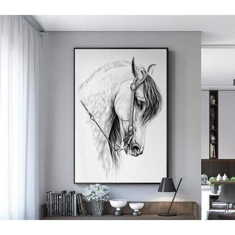 Toile Cheval Blanc Nordic - ruedestableaux.com