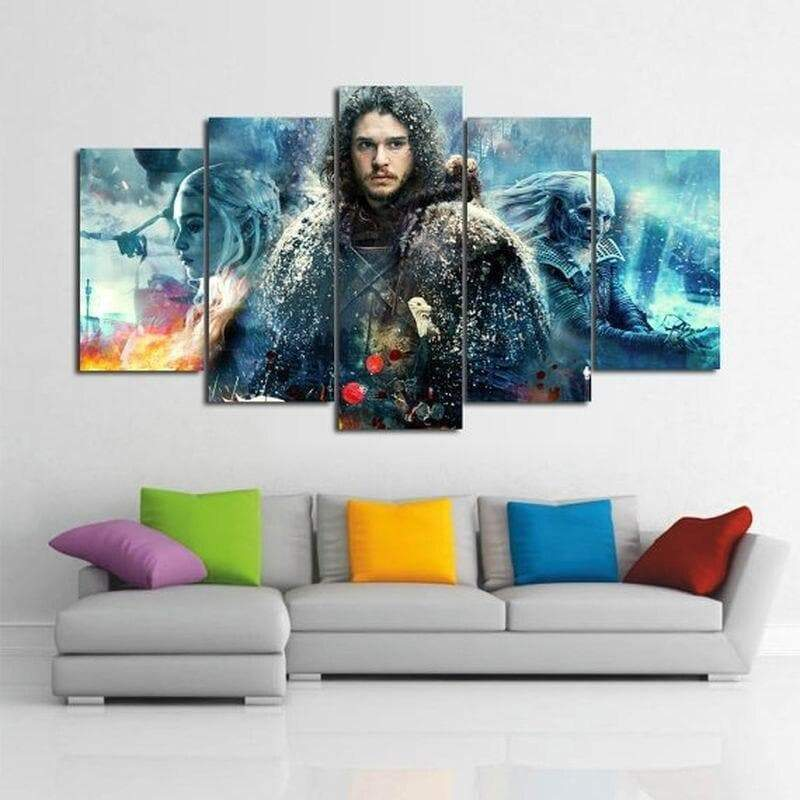 Toile Décoration Game Of Thrones JOHN SNOW - ruedestableaux.com