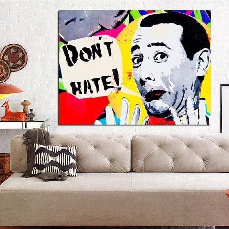 Toile Pop Art Pop Art hader ikke samaritain Tableau Pop Art