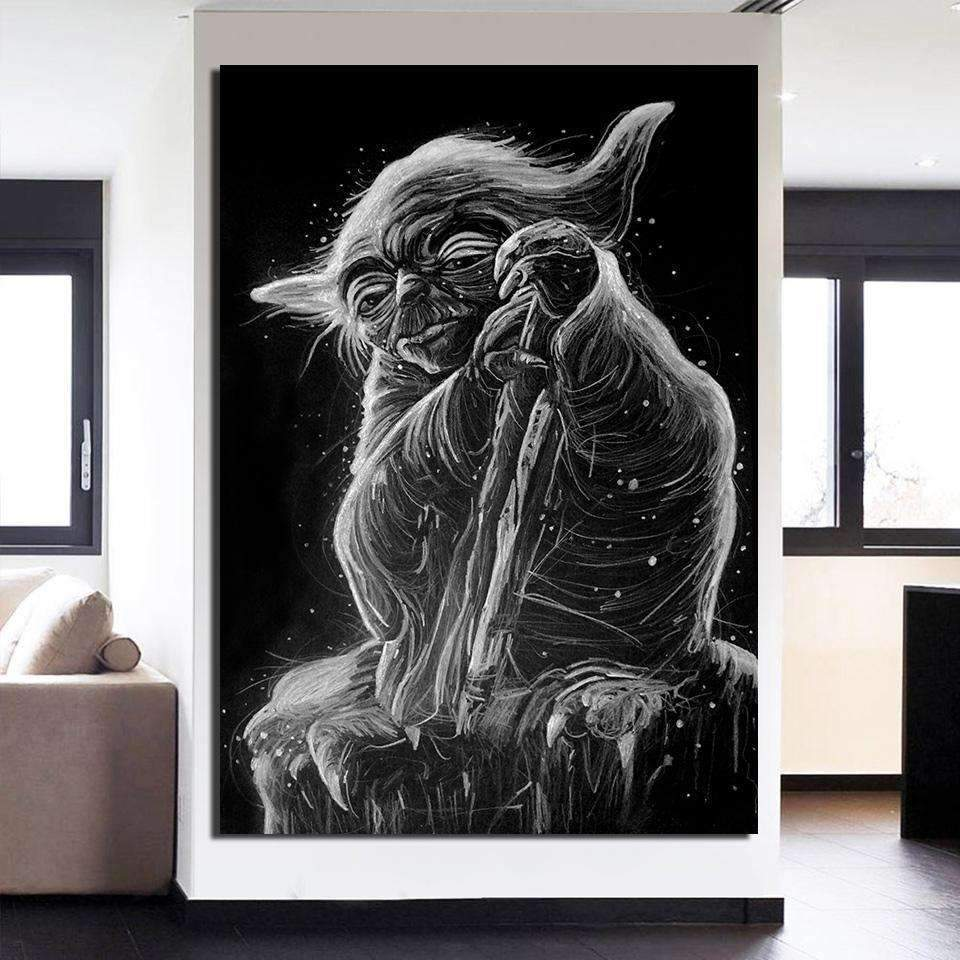 Star Wars canvas Yoda samaritan star wars canvas