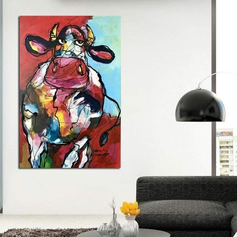 Samaritan Modern Cow Canvas