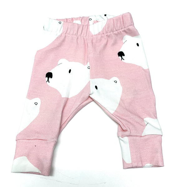 Newborn organic polar bear leggings