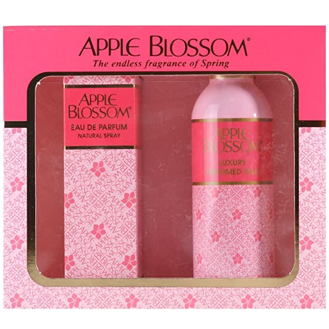 Kent Cosmetics Limited Apple Blossom Gift Set 100ml EDP + 100g Perfumed Talc (4648316633146)