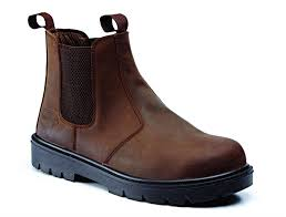 Rugged Terrain Dark Brown Waxy Chelsea Boot SBP SRC-Work Boots-Rugged Terrain-Irish Bait & Tackle