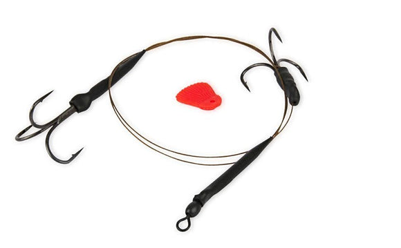 49 Strand Twin Treble Trace-Predator Accessories-Fox Rage-4 (18KG/40LB)-Irish Bait & Tackle