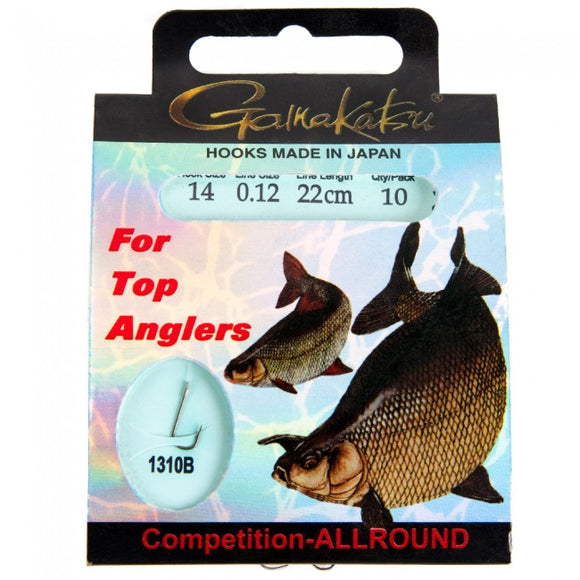 Galkakatsu Competition Roach, allround and Bream Hooks-Coarse Hooks-Galkakatsu-Size 18 - Allround-Irish Bait & Tackle