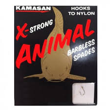 Kamasan X-Strong Animal Barbless & Barbed Spades-Coarse Hooks-Kamasan-Size 12 (Barbless Spade)-Irish Bait & Tackle