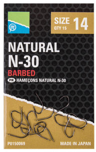 Preston Natural N-30 Hooks-Accessories-Preston Innovations-Irish Bait & Tackle