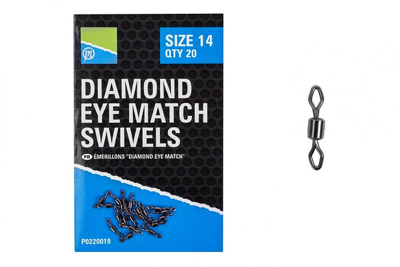 Preston Diamond Eye Match Swivels-Match Swivels-Preston Innovations-Irish Bait & Tackle