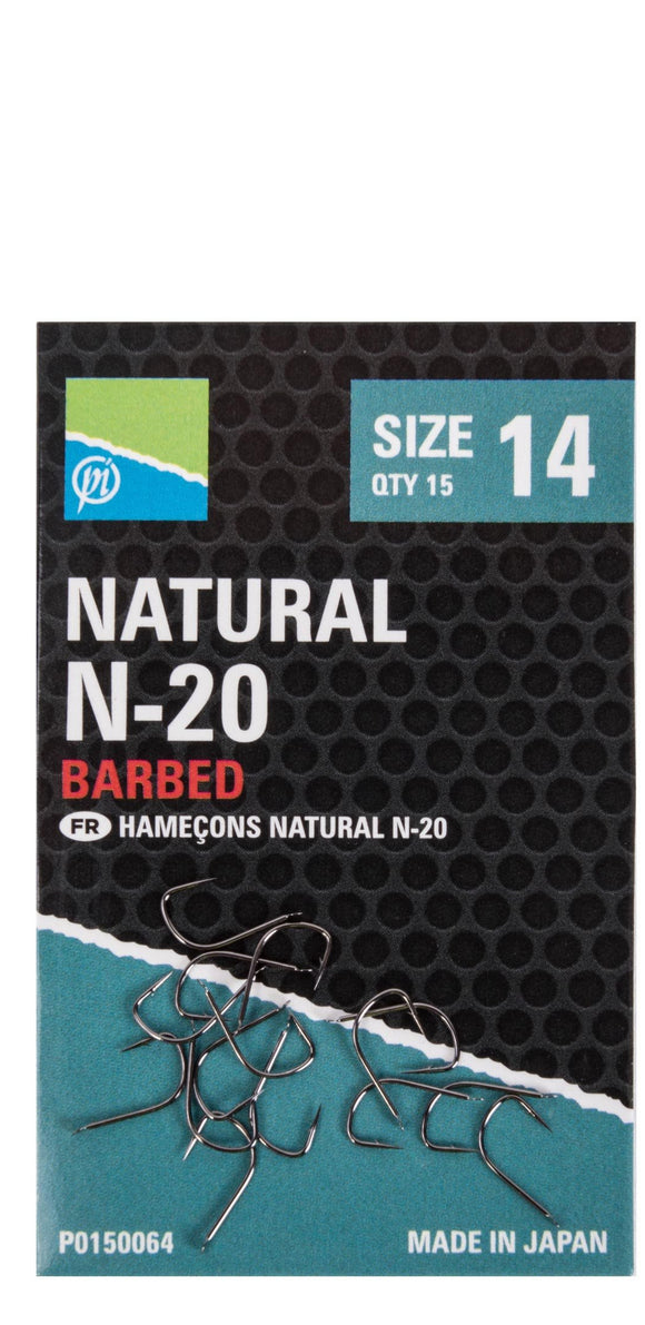 Preston Natural N-20 Hooks-Accessories-Preston Innovations-Irish Bait & Tackle