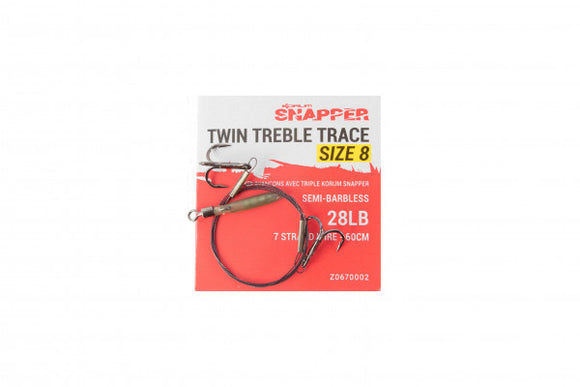 Korum Snapper Twin Treble Traces-Trace wire-Korum-Irish Bait & Tackle