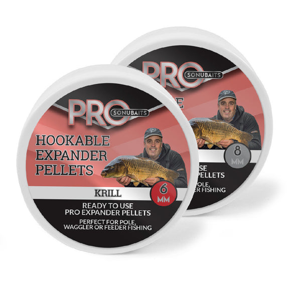 Pro Hookable Expander Pellets-Hookable expander pellets-Sonubait-Krill-6mm-Irish Bait & Tackle