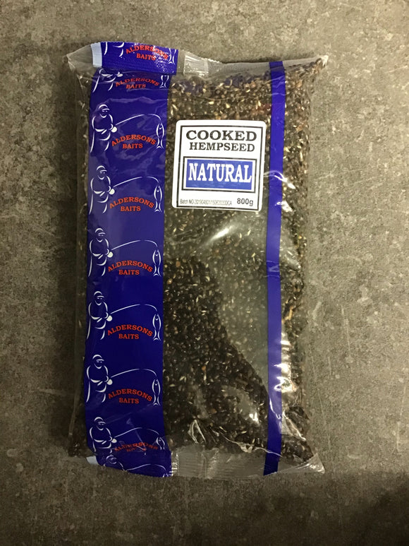Aldersons Cooked Hempseed Natural-Hemp seed-Alderson-800g-Irish Bait & Tackle