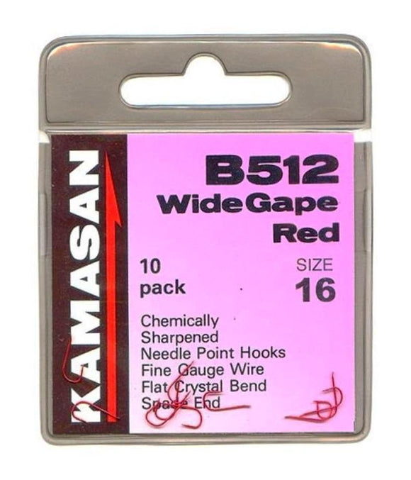 Kamasan B512 Wide Gape Red Hooks-Coarse Hooks-Kamasan-12-Irish Bait & Tackle