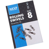 Map Rolling Swivels-Rolling swivels-Map-Size 8-Irish Bait & Tackle