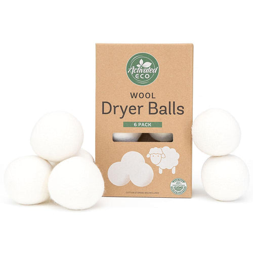 Activated Eco Wool Dryer Balls (6 Pack)