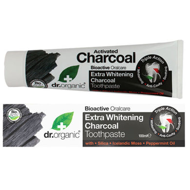 Dr Organic Activated Charcoal Toothpaste 100ml - Stock Your Pantry