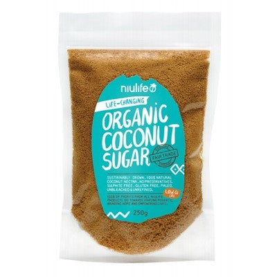 Niulife Coconut Sugar 250g - Stock Your Pantry