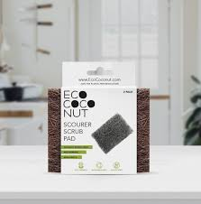 Eco Coconut Scourer Scrub Pad (2 Pack) - Stock Your Pantry