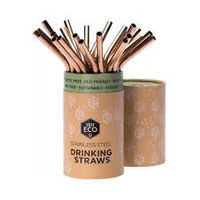 Ever Eco Rose Gold Drinking Straws Bent - Single - Stock Your Pantry