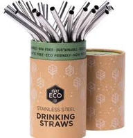 Ever Eco Stainless Steel Drinking Straws Bent - Single - Stock Your Pantry