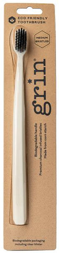 Grin Adults Biodegradable Toothbrush (Medium Bristles) - Stock Your Pantry