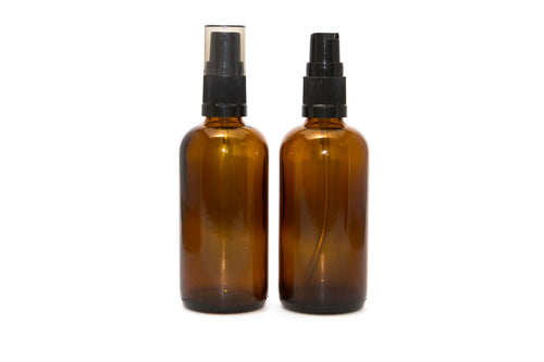 100ml Amber Glass Bottle Pump Top - Stock Your Pantry